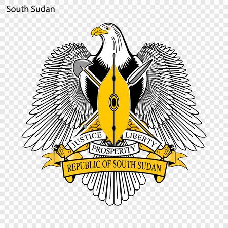 Symbol of South Sudan. National emblem Illustration
