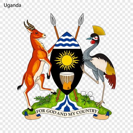 Symbol of Uganda. National emblem Standard-Bild - 103777225