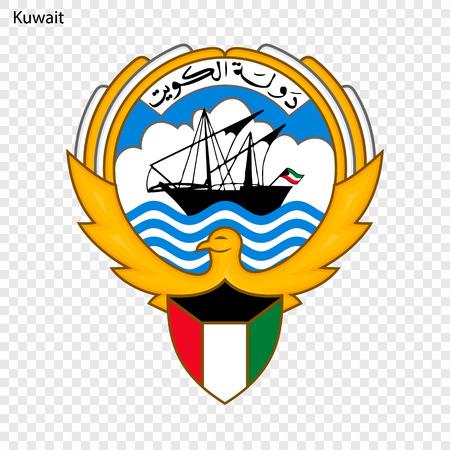 Symbol of Kuwait. National emblem