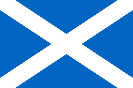 Simple flag of Scotland. Correct size, proportion, colors.  イラスト・ベクター素材