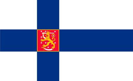 Simple flag of Finland. Correct size, proportion, colors. 일러스트