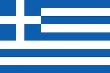 Simple flag of Greece. Correct size, proportion, colors.