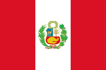 Simple flag of Peru. Correct size, proportion, colors.