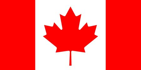 Simple flag of Canada. Correct size, proportion, colors.