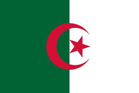 Simple flag of Algeria. Correct size, proportion, colors. 일러스트