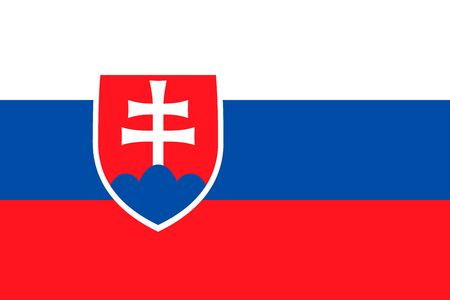 Simple flag of Slovakia. Correct size, proportion, colors.
