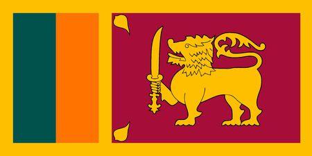 Simple flag of Sri Lanka. Correct size, proportion, colors.