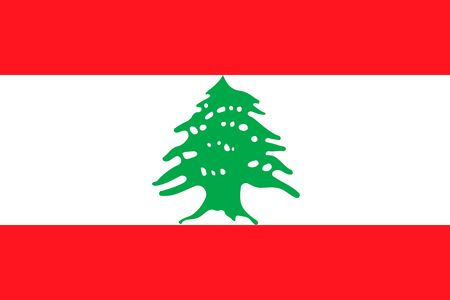 Simple flag of Lebanon. Correct size, proportion, colors. 일러스트