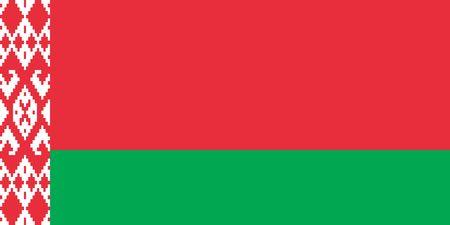 Simple flag of Belarus. Correct size, proportion, colors. 일러스트