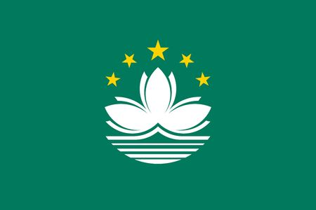 Simple flag of Macao. Correct size, proportion, colors.