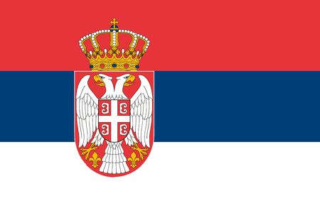 Simple flag of Serbia. Correct size, proportion, colors. 일러스트