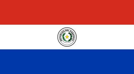 Simple flag of Paraguay. Correct size, proportion, colors.