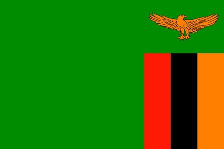 Simple flag of Zambia. Correct size, proportion, colors. Illustration