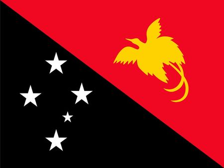 Simple flag of Papua New Guinea. Correct size, proportion, colors. Illustration