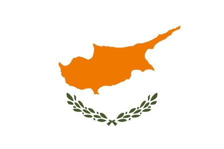 Simple flag of Cyprus. Correct size, proportion, colors. 일러스트