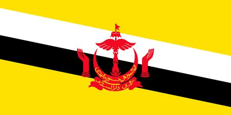 Simple flag of Brunei. Correct size, proportion, colors.