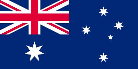 Simple flag of Australia. Correct size, proportion, colors.