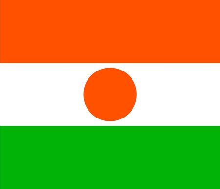 Simple flag of Niger. Correct size, proportion, colors.