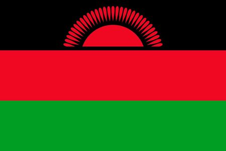 Simple flag of Malawi. Correct size, proportion, colors.