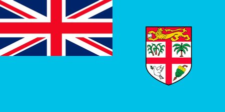 Simple flag of Fiji. Correct size, proportion, colors.