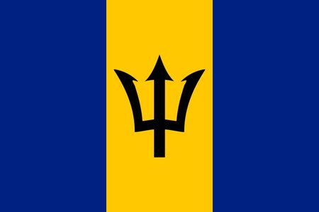 Simple flag of Barbados. Correct size, proportion, colors. 일러스트