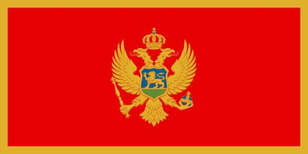Simple flag of Montenegro. Correct size, proportion, colors.