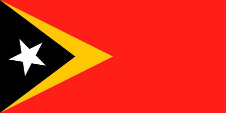 Simple flag of East Timor. Correct size, proportion, colors.