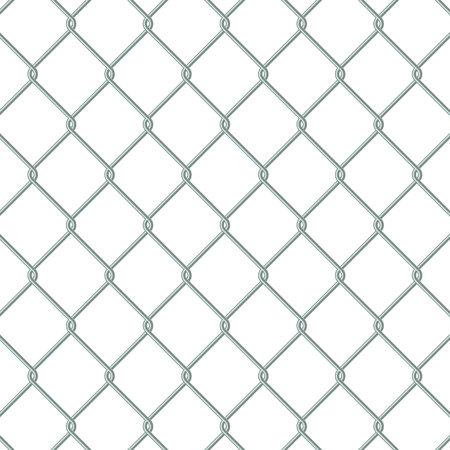 Metal Chain link fence Vector illustration