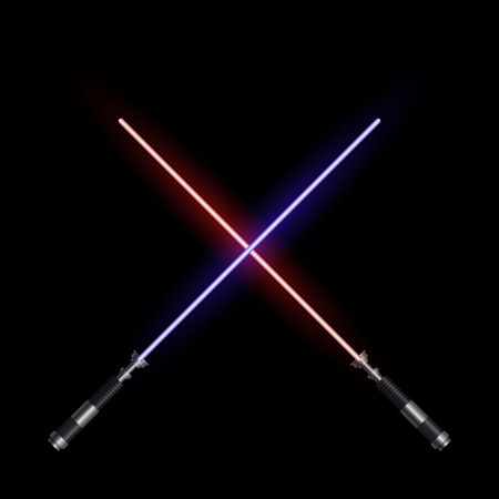 realistic light swords. Vector illustration