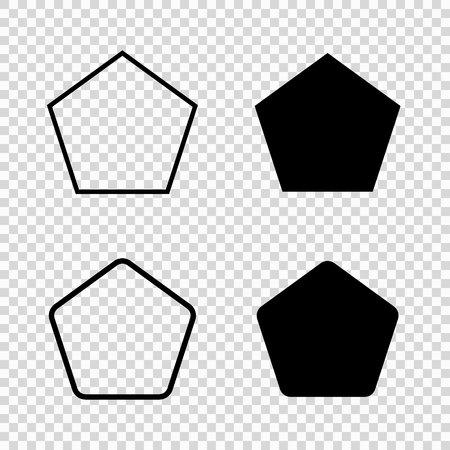 Icona di vettore del Pentagono. logo pentagonale della geometria