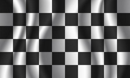 Zielflagge Hintergrund. Design der Rennflagge.