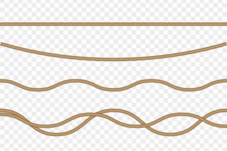Cuerda realista vector aislada sobre fondo transparente. Foto de archivo - 107733403