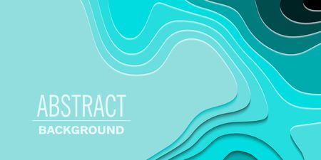 Geometric paper cut background, topography map cpncept. Vector illustration Illustration