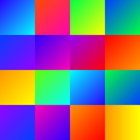 Set of color line gradients. Vector gems collection for border, frame, ribbon design.