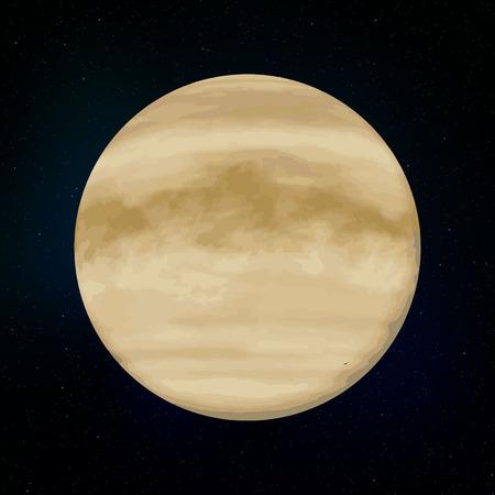Venus realistic Planet of Solar System vector illustration 向量圖像