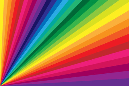 Rainbow Colored Stripe Twisting Background