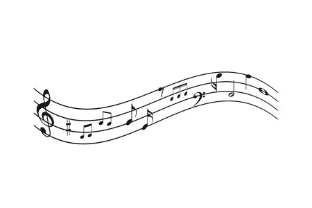 Abstract music background with musical notes