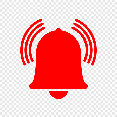 Alarm bell icon. Vecor illustration