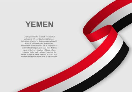 waving flag of Yemen. Template for independence day. vector illustration