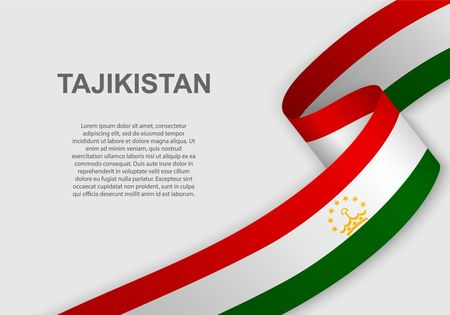 waving flag of Tajikistan. Template for independence day. vector illustration Illustration
