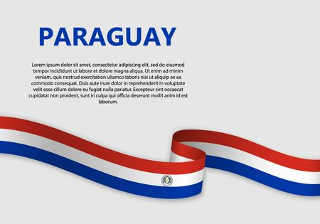 Waving Flag of Paraguay, vector illustration