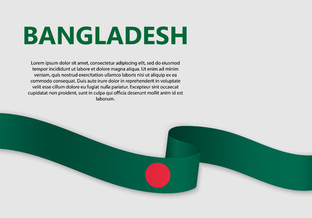 Waving Flag of Bangladesh, vector illustration