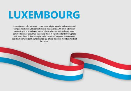 Waving Flag of Luxembourg, vector illustration