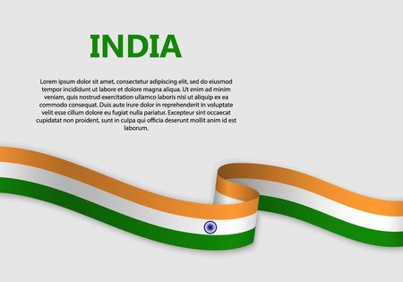 Waving Flag of india, vector illustration Vectores