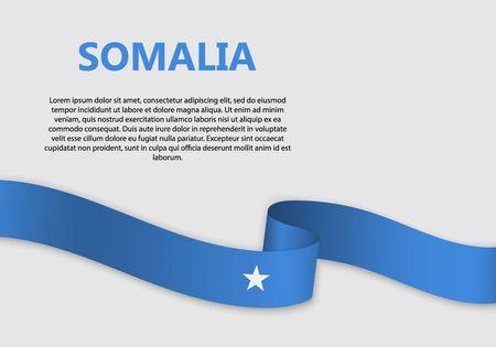 Waving Flag of Somalia, vector illustration Vetores