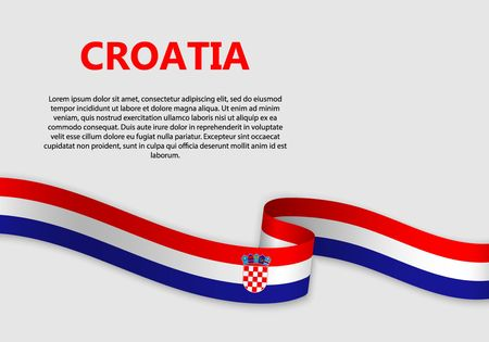 Waving Flag of Croatia, vector illustration