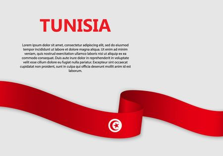 Waving Flag of Tunisia, vector illustration