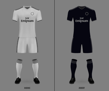 football kit Real Madrid 2018-19, shirt template for soccer jersey. Vector illustration Illustration