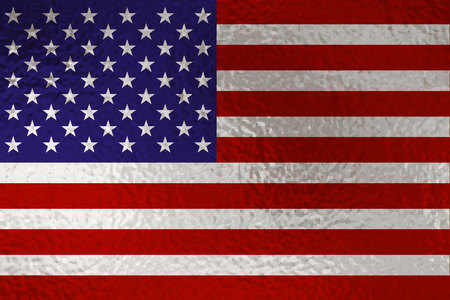 Flag of United States with glass effect. Vector illustration