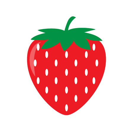 Garden strawberry icon. Vector illustration, Isolatrd on white background